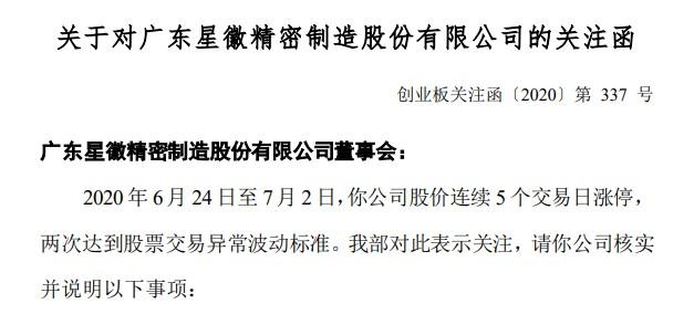 """年报被""""非标"""",收购深圳泽宝形成商誉10亿,7连板市场焦点股星徽精密收到关注函"""
