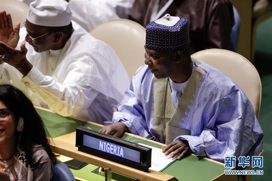 (国际)尼日利亚常驻联合国代表提贾尼・穆罕默德-班德当选第74届联合国大会主席