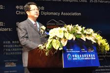 广东省副省长刘志庚在开幕式上致辞