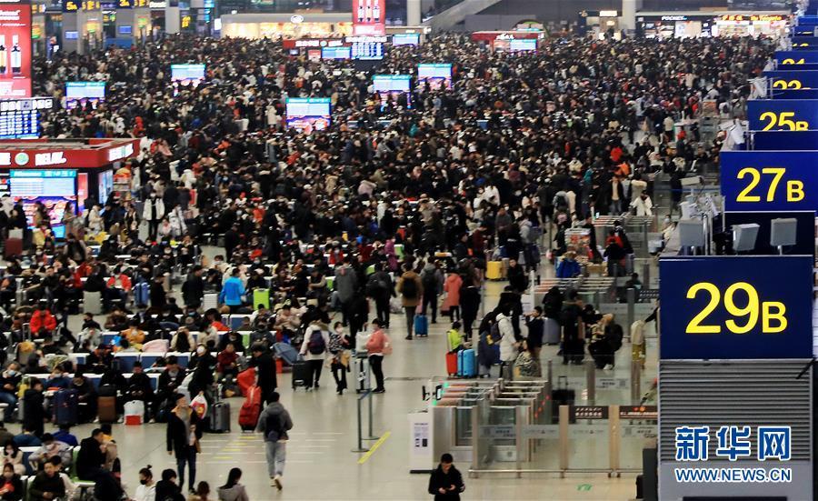 上海迎来春运大客流