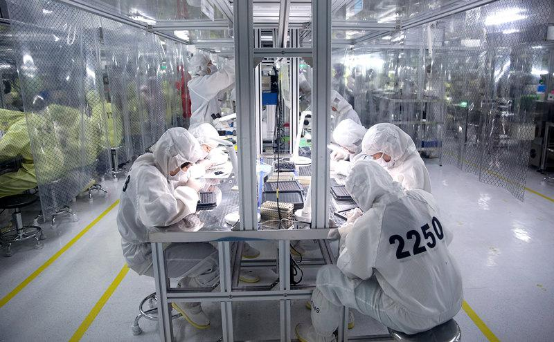 2017年6月2日拍摄的嘉善县一家电机公司的生产车间。新华社记者 张铖 摄