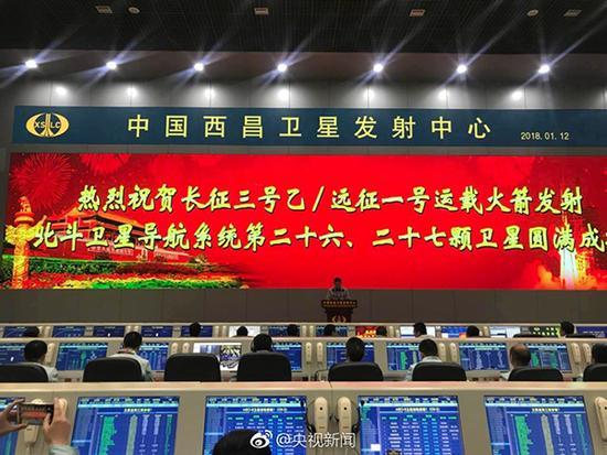 中国成功发射第二十六、二十七颗北斗导航卫星