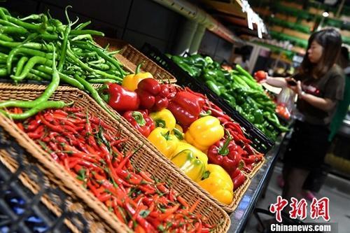 10月16日,中国国家统计局发布的数据显示,9月份,全国居民消费价格(CPI)同比上涨1.6%,涨幅比上月回落0.2个百分点。1至9月平均,全国居民消费价格总水平比去年同期上涨1.5%。图为10月11日市民在福建省宁德市一超市选购蔬菜。<a target='_blank' href='http://www.chinanews.com/' _fcksavedurl='http://www.chinanews.com/'>中新社</a>记者 张斌 摄