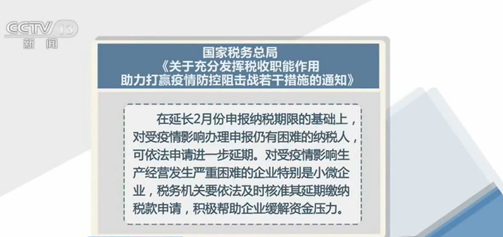 央视网|易访@国家税务总局:多措并举 缓解企业经营压力