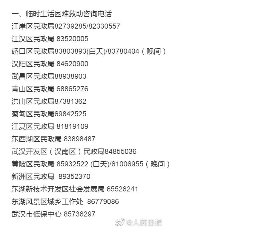 人民日报 易访■武汉发布滞留在汉外地人员救助通道
