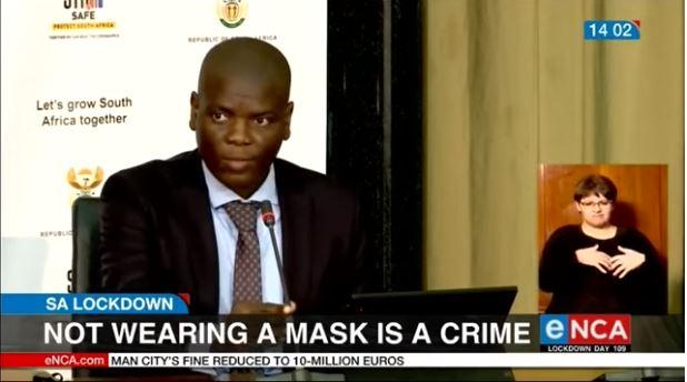 央视网|南非司法部:公共场所不戴口罩将被拘捕