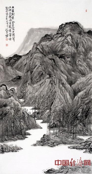 沈胄山水画题材国画作品欣赏(组图)