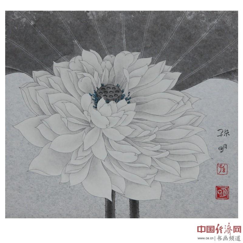 孙明工笔画作品