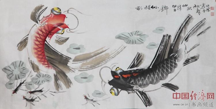 著名国画家张秋祥创作的国画