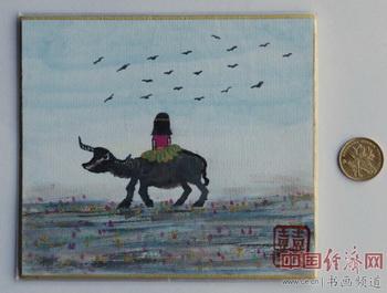 熹熹公主侧坐牛,胸怀大志掌乾坤。李欣烨为何�F熹(AnikaHe)画作诗