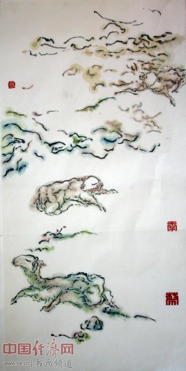 著名国画家蔡季良国画