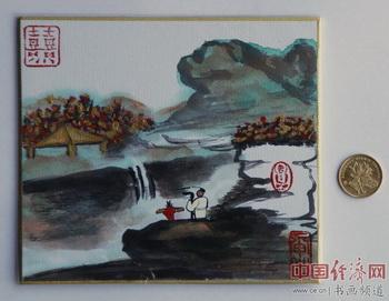 """何�F熹(Anika He)""""中熹何璧掌中宝mini系列""""作品,被顾国平先生收藏。"""