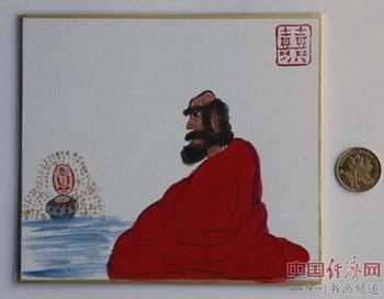 """何�F熹(Anika He)""""中熹何璧掌中宝mini系列""""作品《达摩》,被穆安先生收藏。"""