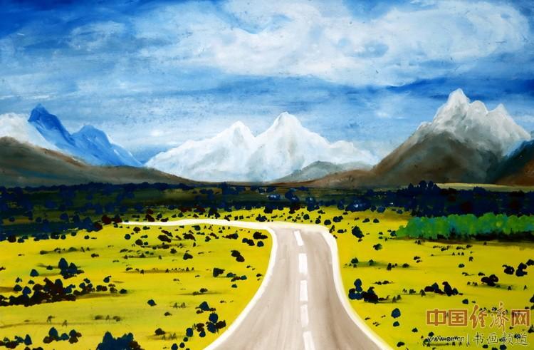 你走过了草原,穿越了季节河,一品为何�F熹(Anika He)绘画配诗