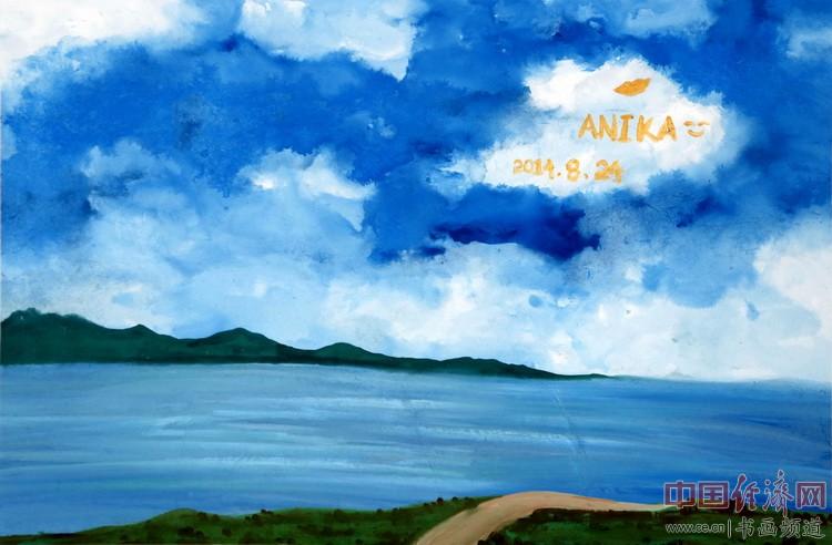 唯有追求是不变的旋律,Anika注定是成功的音符……一品为何�F熹(Anika He)绘画配诗