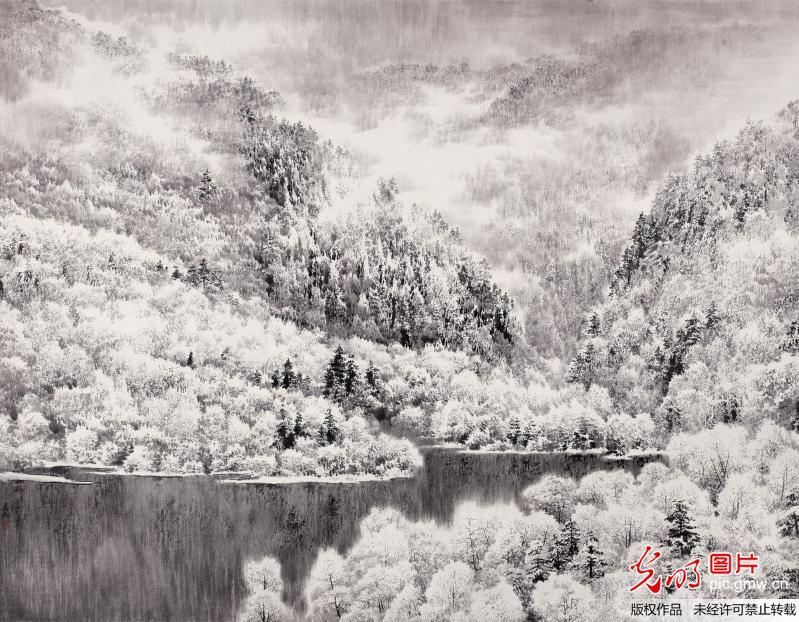 """黄河画派领军画家徐惠君独创""""风雨皴""""绘就""""中国梦""""(组图)"""