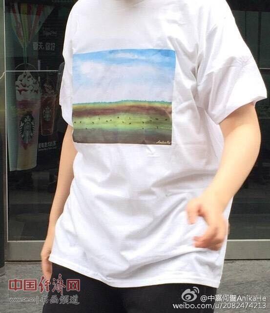 何�F熹Anika He艺术延伸品体恤 Anika He's Artistic T shirt