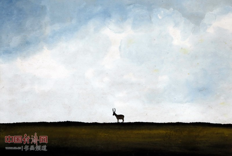 画家何�F熹(Anika He)彩色绘画