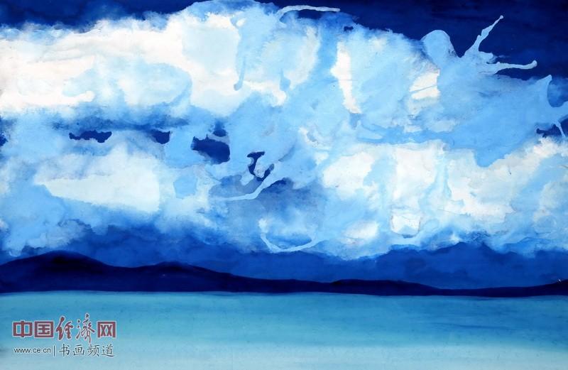 云烟如巨浪,霸气占长空。拨云可见日,享福满域中。一品为何�F熹Anika He画《约旦神曲》配诗