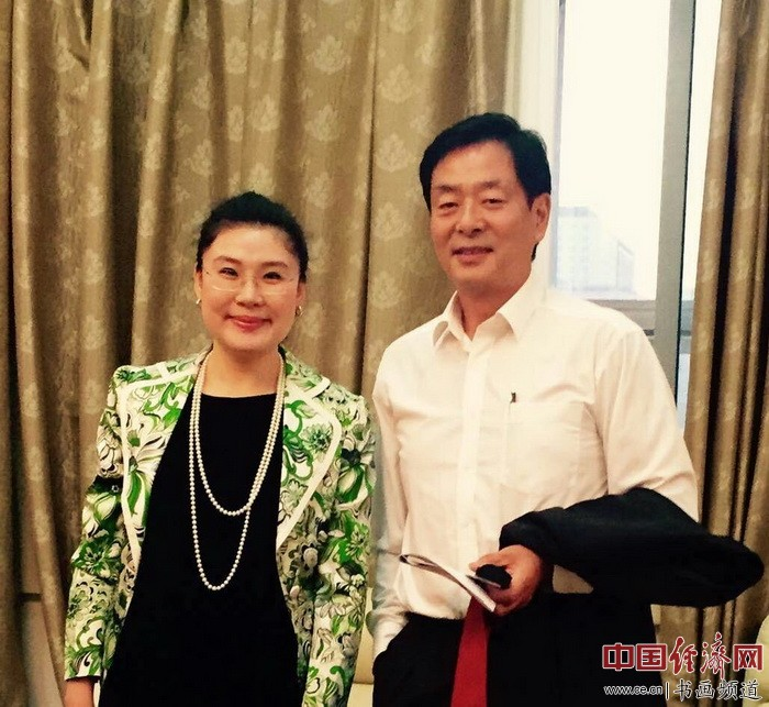 何�F熹(Anika He)和中国戏剧家协会主席濮存昕Mr. Pu Cunxin