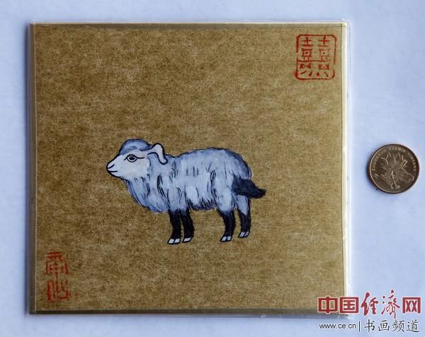 """何�F熹(Anika He)""""中熹何璧掌中宝mini系列""""作品《奶羊》(喝奶长大的羊)"""