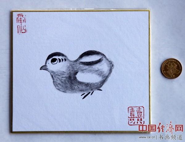 """何�F熹(Anika He)""""中熹何璧掌中宝mini系列""""作品《可爱的小鸡》"""