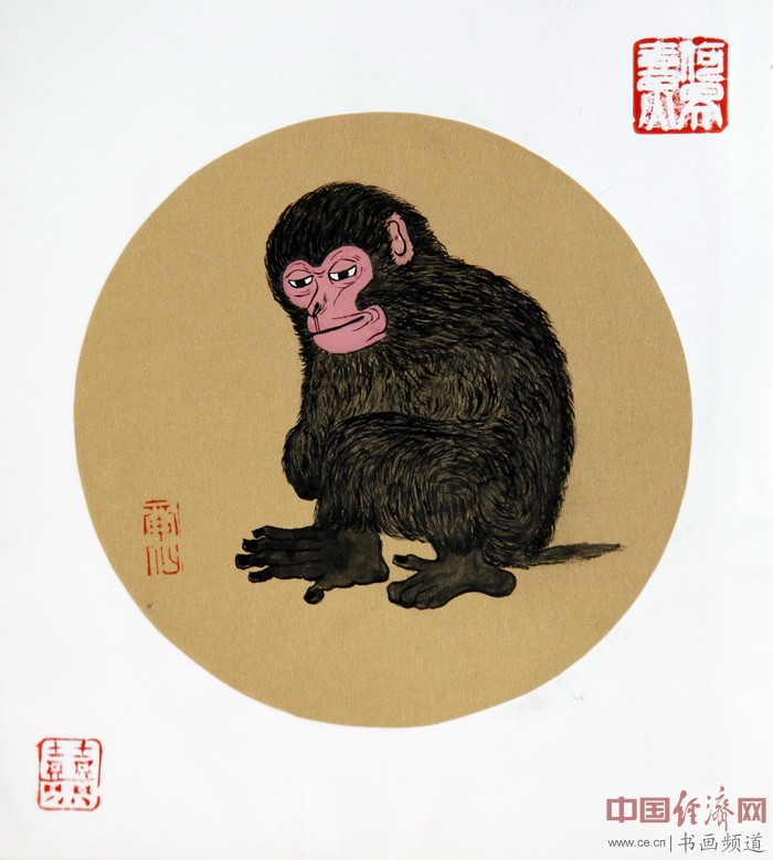 """何�F熹(Anika He)""""中熹何璧方圆Together系列""""作品《毛猴励志》"""