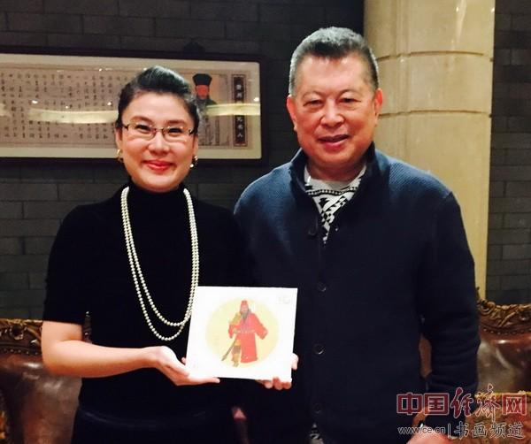 何�F熹(Anika He)和台湾中华全球洪门联盟总会长刘会进合影Liu Hui Chin