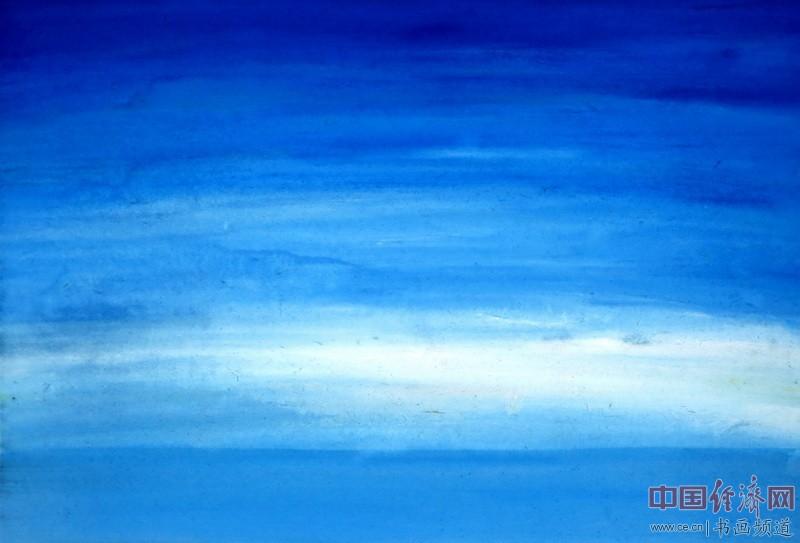 画家何�F熹(Anika He)彩色绘画 当太阳羞涩的躲进云朵中熹何璧Anika He
