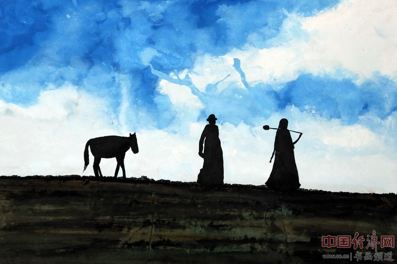 何�F熹(Anika He)绘画《高原上的修行者》
