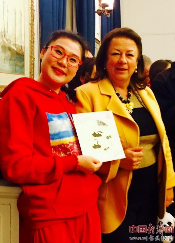 何�F熹(Anika He)和哥伦比亚前驻华大使卡尔门萨・哈拉米略Colombian