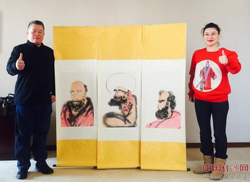 何�F熹(Anika He)和台湾中华全球洪门联盟总会长刘会进 Liu Hui Chin合影