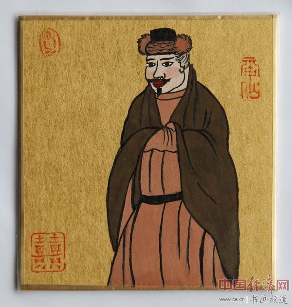 """何�F熹(Anika He)""""中熹何璧掌中宝mini系列""""作品""""大唐风韵系列""""《老财主》"""