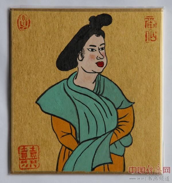 """何�F熹(Anika He)""""中熹何璧掌中宝mini系列""""作品""""大唐风韵系列""""《太后》"""