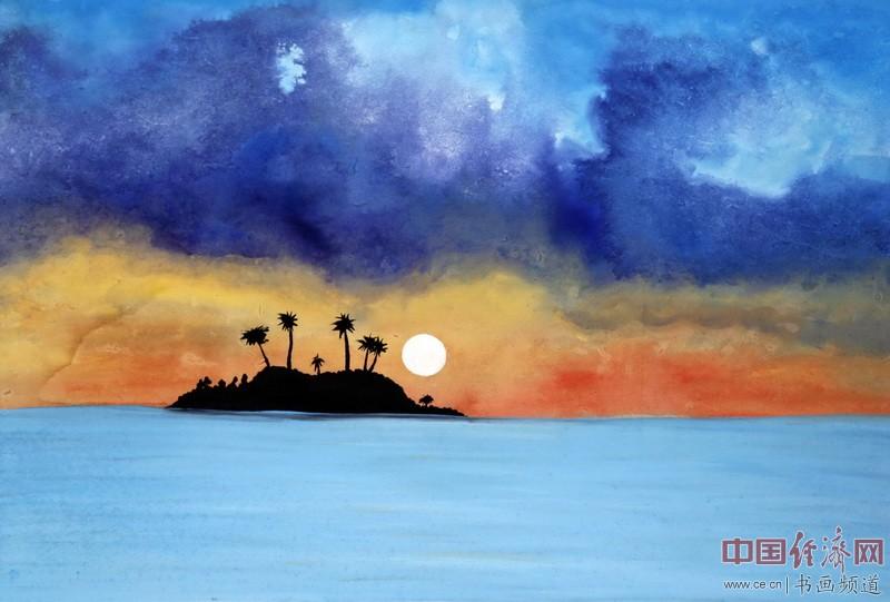 何�F熹(Anika He)中熹何璧彩色绘画《百慕大》Bermuda