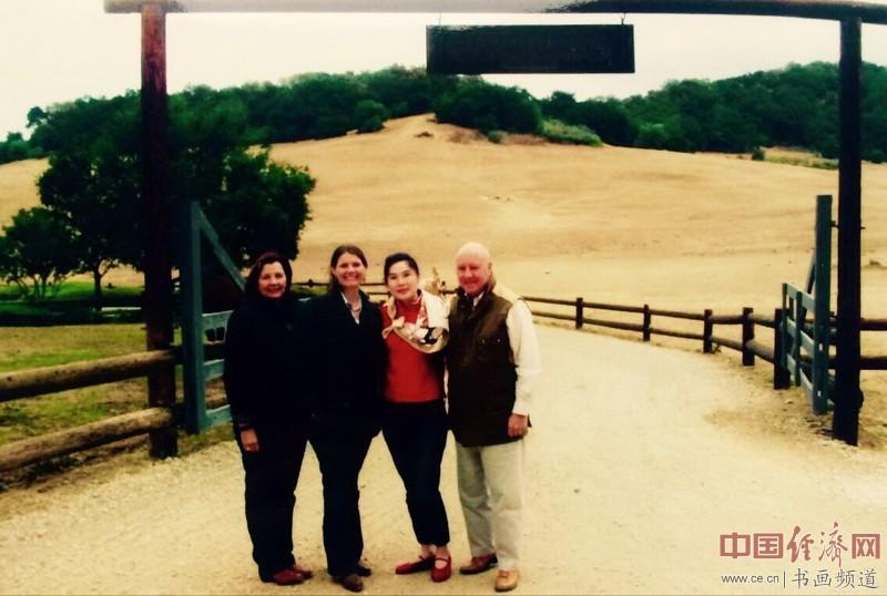 何�F熹Anika He洛杉矶的朋友在里根总统度假牧场President Reagan Ranch
