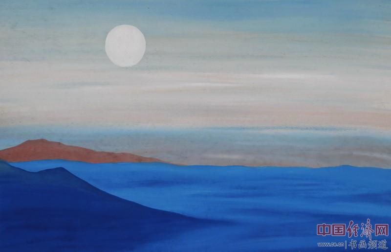 中熹何璧AnikaHe画派画家何�F熹(Anika He)彩色绘画作品《晨光洒在果酱山上》