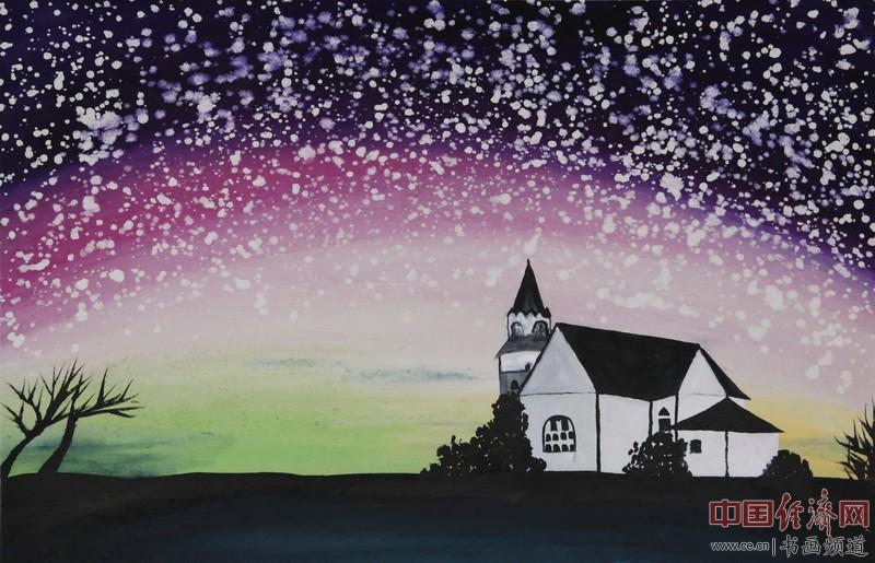 中熹何璧AnikaHe画派画家何�F熹(Anika He)彩色绘画作品《班比的家》