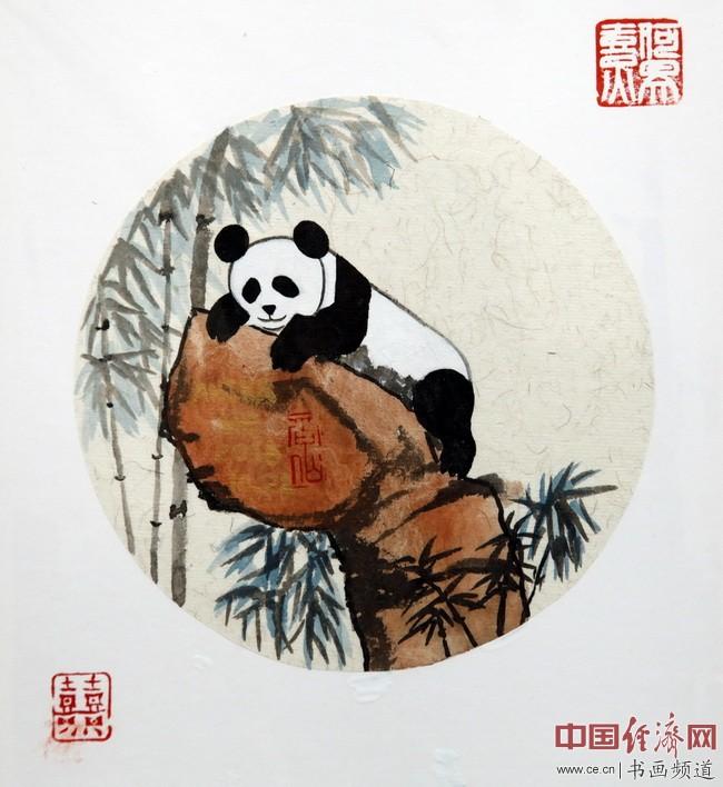 """何�F熹(Anika He)""""中熹何璧方圆Together系列""""熊猫作品组图"""