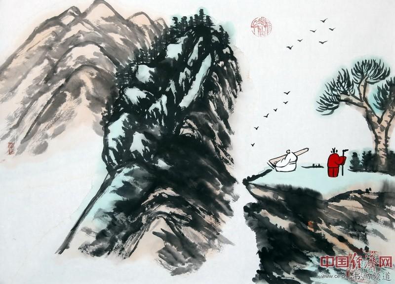 艺术家何�F熹(Anika He)水墨画作品