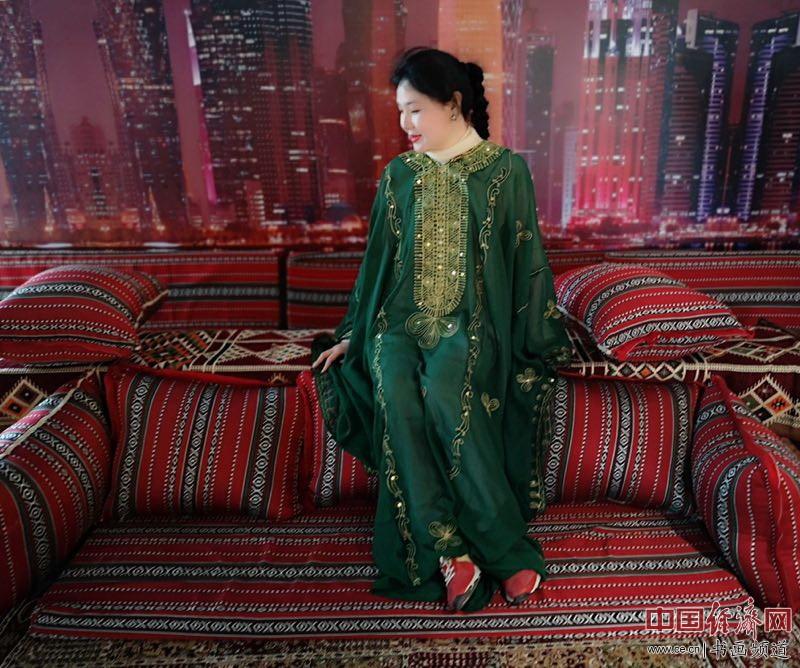 艺术家何�F熹(Anika He)在2019中国北京世界园艺博览会EXPO卡塔尔馆