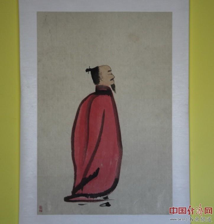 何�F熹(Anika He)绘画《仙》供奉于北京后海火神庙 中国经济网记者李冬阳摄