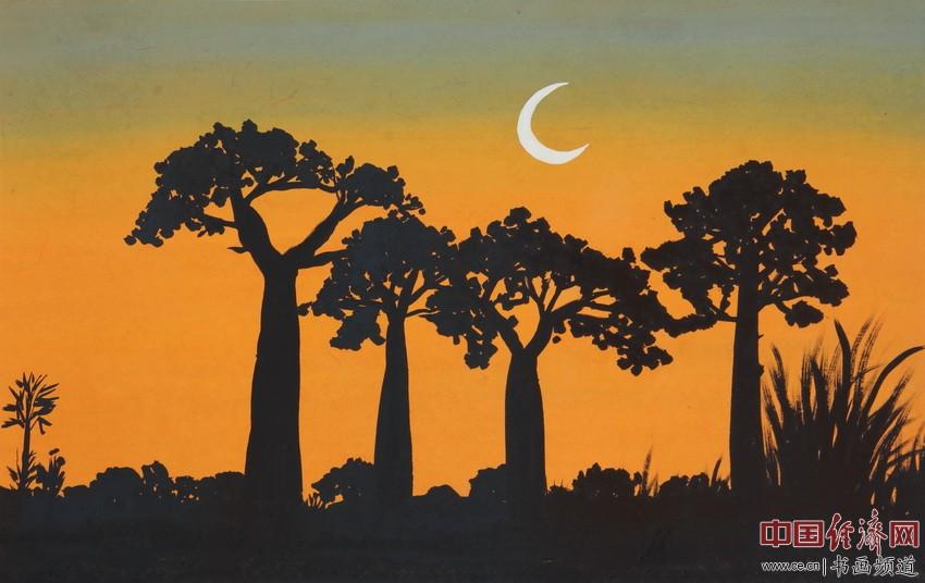 人间皆净土,落叶终归根。月照莲台上,留得清净心。宋汉晓为何�F熹绘画配诗。