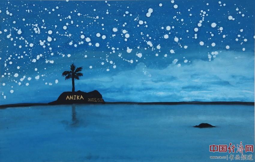 世事如大海,无我无挂碍。心静见真佛,觉照身自在。宋汉晓为何�F熹绘画配诗。