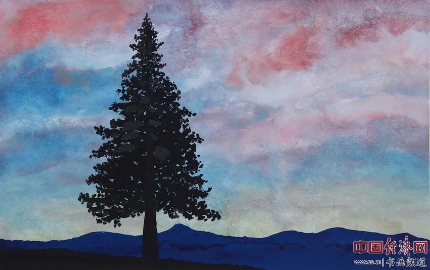 苍茫天地间,云海波浪宽。国魂今犹在,大木柱长天。 顾国平为何�F熹绘画配诗。