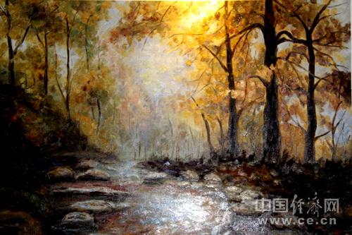 画家卢鹏:将中国元素融入油画创作(图)