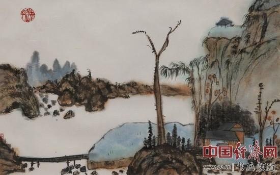 中国道教协会秘书长王哲一收藏的何�F熹(Anika He)绘画