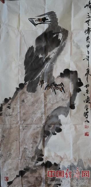 著名国画家刘顺平创作的国画作品