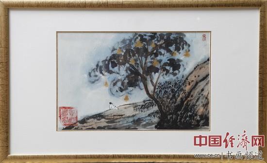 何�F熹(Anika He)绘画《摇钱树》money tree
