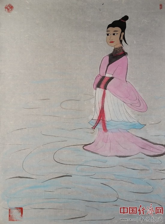 何�F熹(Anika He)绘画《仙女》
